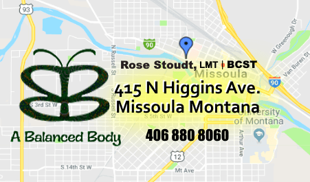 Find your way to Rose Stoudt and A Balanced Body Missoula Montana